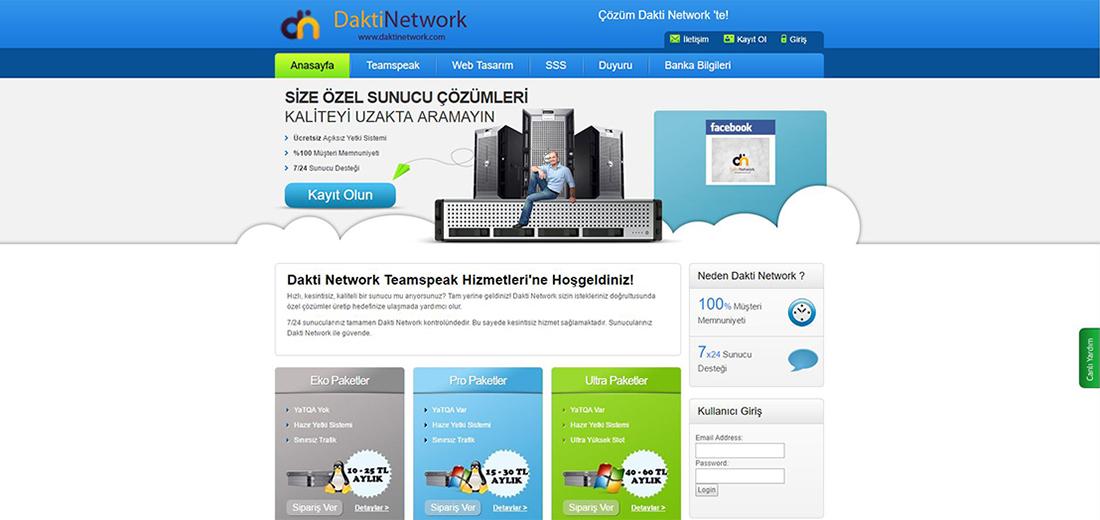 Dakti Network Özel Sunucu Teması