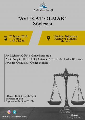 Afiş - Avukat Olmak Soylesisi