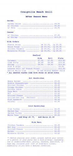 Broşür - Restorant Menüsü
